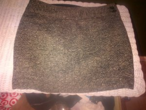 J.Crew Wool Blend Textured  Weave Black & White Mini Skirt Size 4