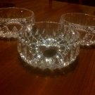 "Set of 3 Vintage Gorham Hand Cut Lead Crystal Althea 4 3/8"" , 9 oz. Bowls"