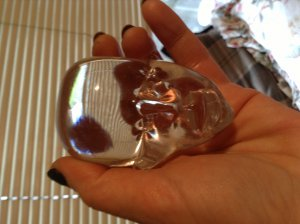 Portland, Oregon Local Studio Art Glass Head Paperweight