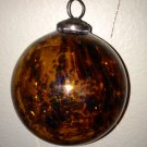 Oversized Hand-Blown Leopard Art Glass Ornament