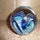 Rare 1984 Signed Eickholt Paperweight Large Dichotic Swirl