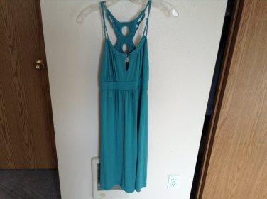 Ella Moss Jade  Green Tank Dress With Sexy Cut Out Back  Size XS