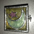 "Darling Hand Crafted Hinged ""Wish Box"" With Star Feet & Moonlit Sky Motif"