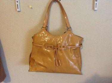 Great Color! The Sak Medium Mustard/Camel Colored Crinkled Genuine Leather  Retail $238