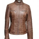 Ladies leather jackets ( BKW-285220 )