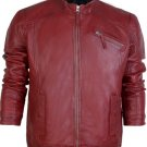 Men Red Sheep Leather Jacket