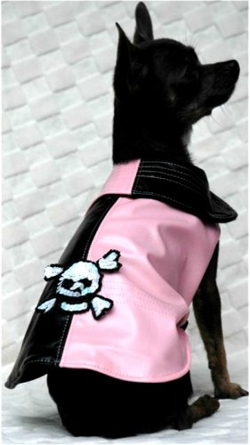 PINK Pirate Raincoat Chihuahua size ~S~