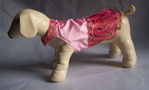 Pink Asian Style Summer Dog Dress ~S~