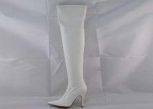 LADIES THIGH HIGH GLAMOUROUS AND SEXY BOOTS WHITE