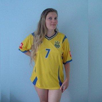 UKRAINE ANDRIY SHEVCHENKO 7 SOCCER FOOTBALL SHIRT XL