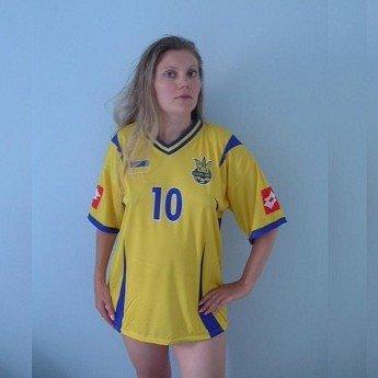 UKRAINE ANDRIY VORONIN 10 SOCCER FOOTBALL SHIRT XL