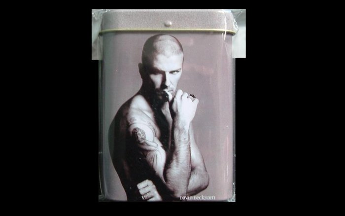 DAVID BECKHAM CIGARETTE TIN BOX
