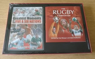 GREATEST MOMENTS OF THE FIVE & SIX NATIONS THE RUGBY COMPANION BOOK & DVD GIFT SET