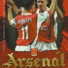ARSENAL MANCHESTER UNITED CARLING PREMIERSHIP FOOTBALL PROGRAMME 1998
