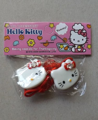 HELLO KITTY BEAUTIFUL HAIR DECORATIONS IN RED