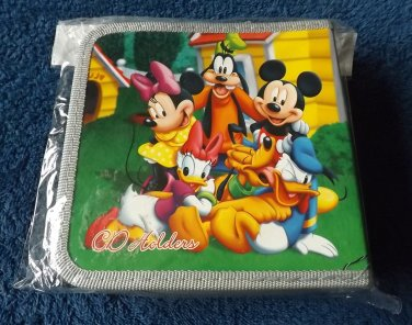 MICKEY MOUSE AND FRIENDS FORTY CD DVD HOLDER FOLDER
