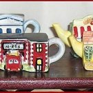 Complete Set of 8 Mini-Teapots Roseville  Village  Premiums From Canadian Red Rose Tea