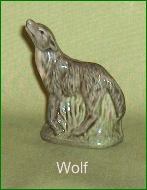 Porcelain Whoppa Wolf Wade  Figurine