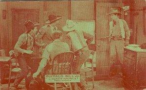 Vintage Western Postcard Buffalo Bill Jr. in Roarin Broncs  Pathe Western