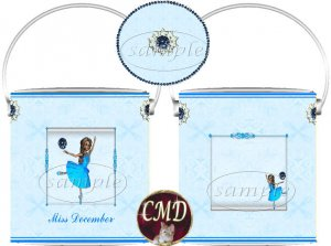 Ballerina Birthstone Gift Can - template - DECEMBER