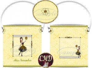 Ballerina Birthstone Gift Can - template - NOVEMBER