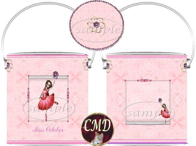 Ballerina Birthstone Gift Can - template - OCTOBER