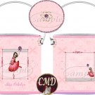 Ballerina Birthstone Gift Can - template - OCTOBER