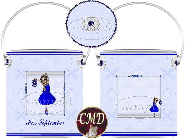 Ballerina Birthstone Gift Can - template - SEPTEMBER