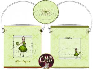 Ballerina Birthstone Gift Can - template - AUGUST