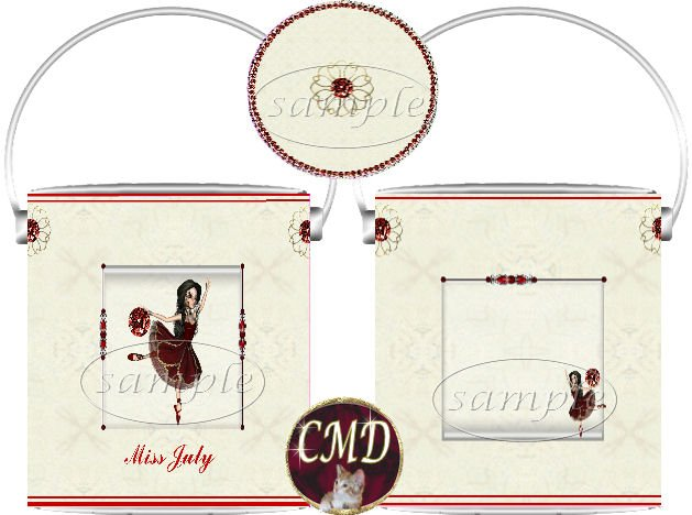 Ballerina Birthstone Gift Can - template - JULY