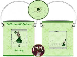 Ballerina Birthstone Gift Can - template - MAY