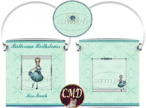 Ballerina Birthstone Gift Can - template - MARCH