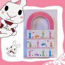 Easter Packaging - 6 paper handled bags - Bunny Rabbit Pattern- FREE SHIPPING