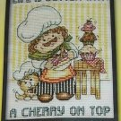 "Cupcake Chef 5"" X 7"" Counted Cross Stitch Kit - Life is Better with a Cherry on Top"