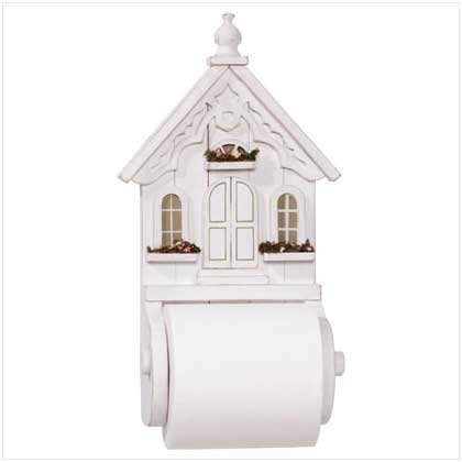 Distressed White House Tissue Holder