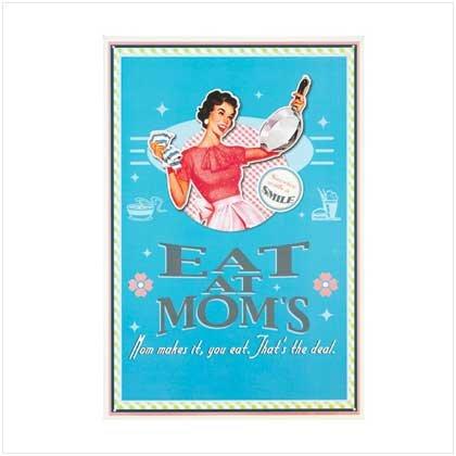 Mom Kitchen Tin Sign