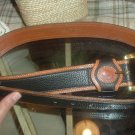 Dooney&Bourke allweather leather Belt navy blue leather belt gold hardware 30/32 ALL