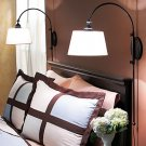 ADJUSTABLE BLACK METAL CURVED WALL READING BED light HOME LAMP SCONCE DECOR