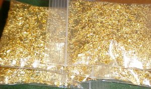 1/4 LB POUND 4 OUNCES GOLD LEAF METAL FLAKE~Gold flakes
