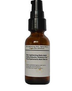 Skin Lightening,Anti-Aging Serum w/ Kojic Acid,Arbutin,Vit C, Hyaluronic acid