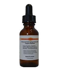 Advanced Anti Aging Serum with Copper Peptide(GHK-Cu) ,Argireline and HA