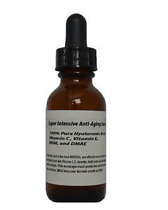 Super Intensive Anti-Aging Serum-100% Pure HA,Vitamin C+E,MSM, and DMAE