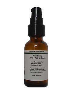 AntiAging Skin Serum with Acai Berry,Alfalfa,Gotu Kola and Hyaluronic acid 1.2oz