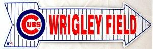 WRIGLEY FIELD BASEBALL CHIGAGO CUBS MAJOR LEAGUE BASEBALL ARROW SIGNS