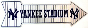 YANKEE STADIUM BASEBALL NEW YORK YANKEE MAJOR LEAGUE BASEBALL ARROW SIGNS