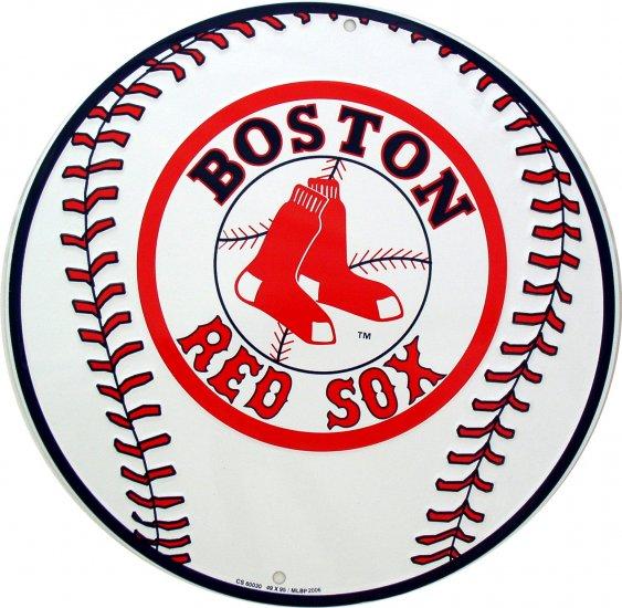 BOSTON RED SOX BASEBALL MAJOR LEAGUE BASEBALL CIRCULAR SIGNS