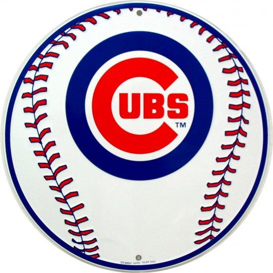 CHICAGO CUBS BASEBALL MAJOR LEAGUE BASEBALL CIRCULAR SIGNS
