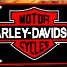 HARLEY DAVIDSON MOTORCYCLES VINTAGE BLACK LICENSE PLATES