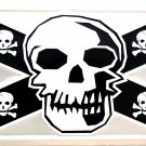CONFEDERATE FLAG SKULL LICENSE PLATES