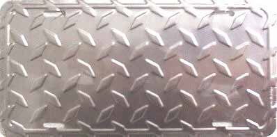 SILVER DIAMOND CUT BLANK LICENSE PLATES